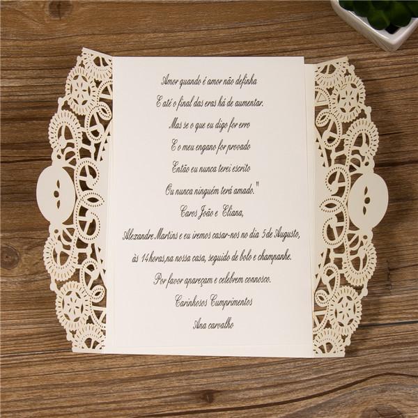 Ben noto Astuccio Piegato Partecipazioni Matrimonio Nastro Fiocco WPL0044  BI25