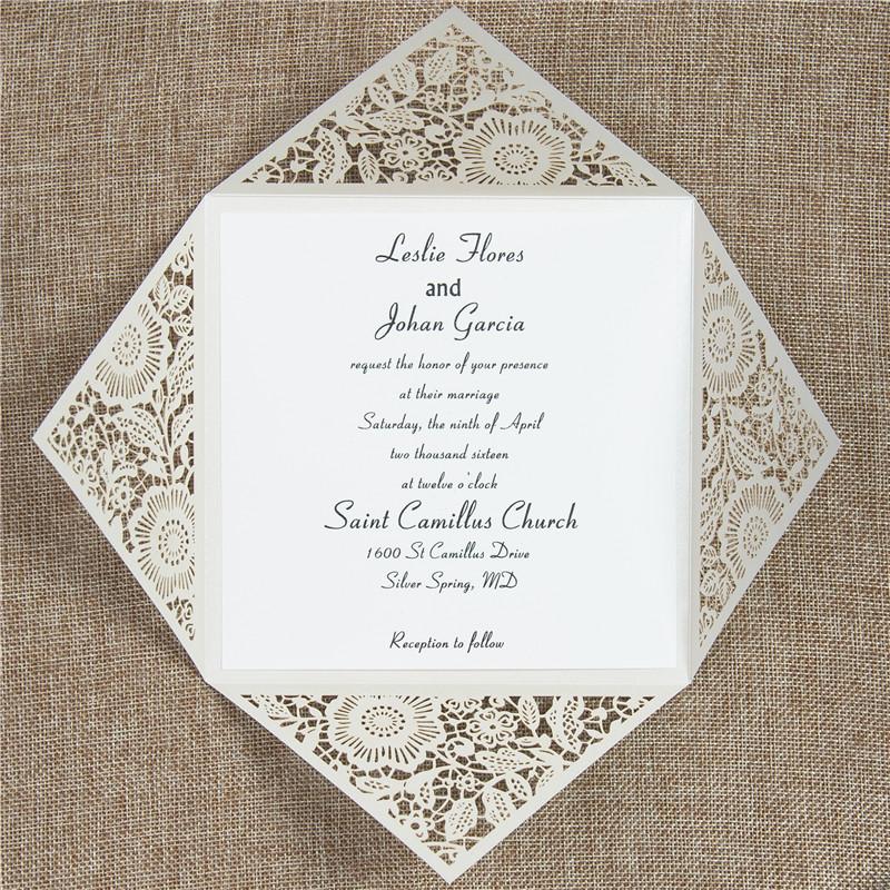 Per Matrimonio Auguri O Congratulazioni : Biglietto per matrimonio moderno laser cut dorato wpl