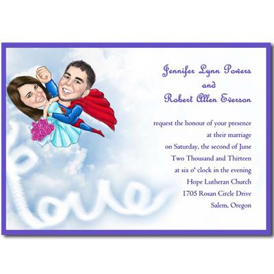 Spiritose Partecipazioni Matrimonio Superuomo WFH3011
