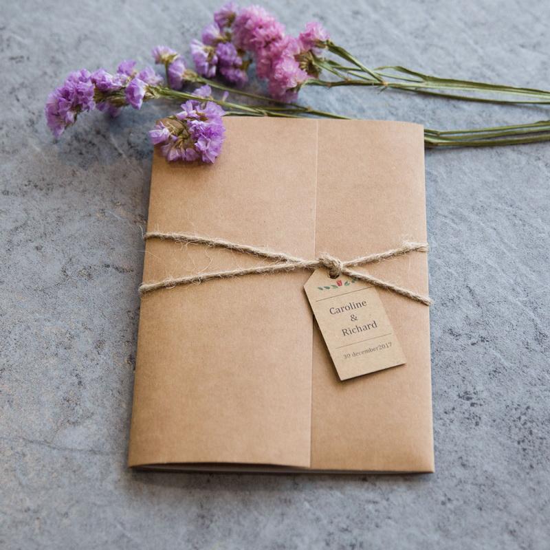 Partecipazioni Matrimonio Carta Kraft.Partecipazioni Classiche Rustiche Kraft Wdj0002 Wdj0002 0 00