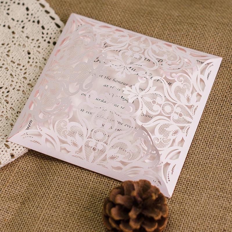 Eleganti Partecipazioni Matrimonio Traforate Wpl0088 Wpl0088 000