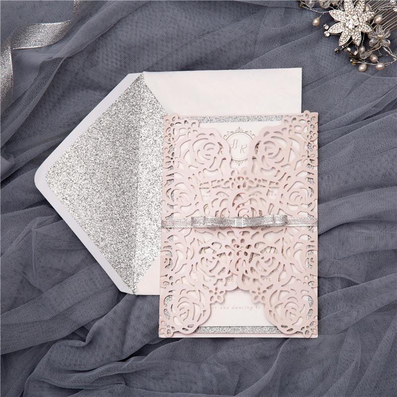Partecipazioni Matrimonio Glitter.Eleganti Partecipazioni Matrimonio Wpl0140 Wpl0140 0 00