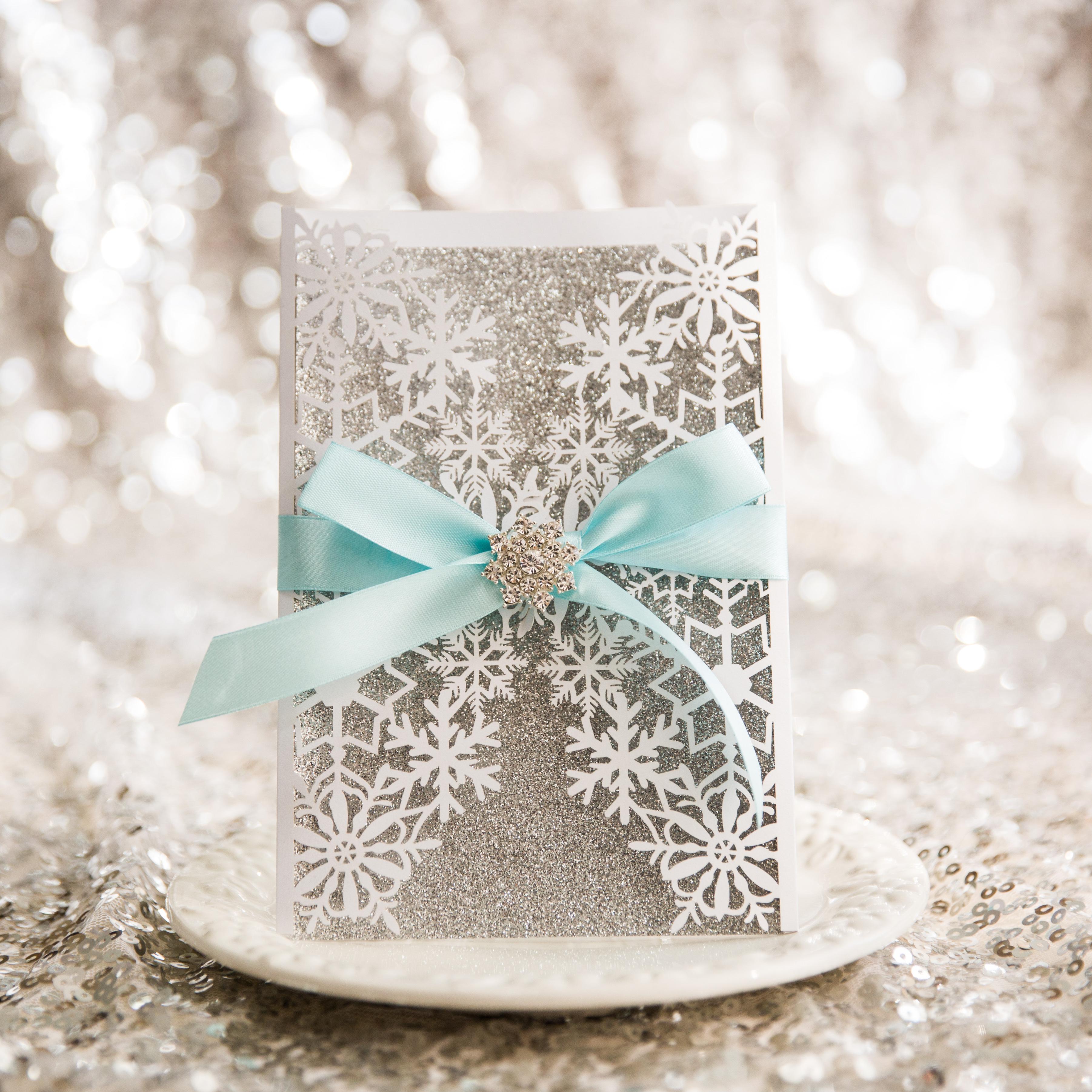 Matrimonio In Inverno : Partecipazioni matrimonio inverno disegno fiocco di neve
