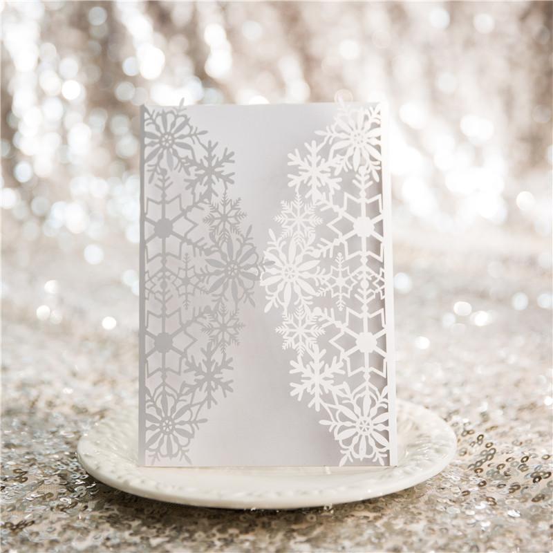 Partecipazioni Matrimonio Inverno.Partecipazioni Matrimonio Inverno Disegno Fiocco Di Neve Wpl0154